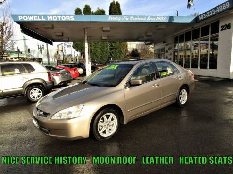 2003 Honda Accord for sale at Powell Motors Inc in Portland OR