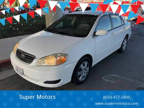 2005 Toyota Corolla for sale at Super Motors in San Mateo CA