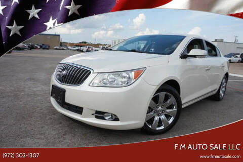 2013 Buick LaCrosse for sale at F.M Auto Sale LLC in Dallas TX