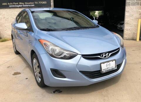 2012 Hyundai Elantra for sale at KAYALAR MOTORS Mechanic in Houston TX