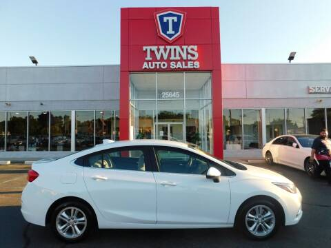 2018 Chevrolet Cruze for sale at Twins Auto Sales Inc Redford 1 in Redford MI