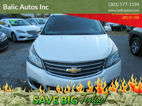 2015 Chevrolet Traverse for sale at Balic Autos Inc in Lanham MD
