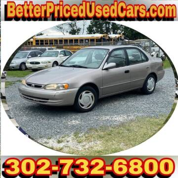 1998 Toyota Corolla for sale at Better Priced Used Cars in Frankford DE
