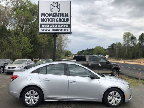 2012 Chevrolet Cruze for sale at Momentum Motor Group in Lancaster SC