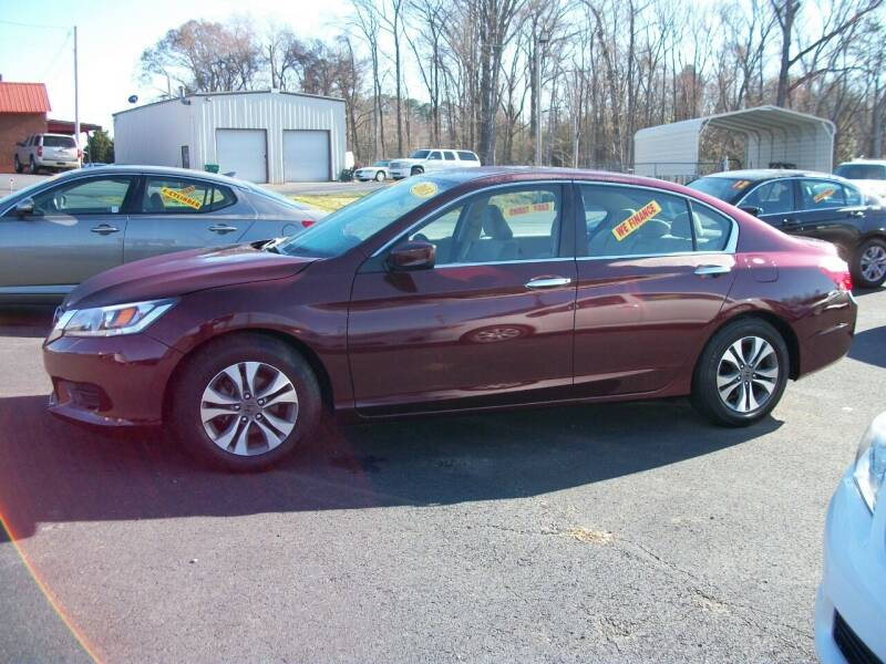 2013 Honda Accord for sale at Lentz's Auto Sales in Albemarle NC