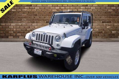2016 Jeep Wrangler for sale at Karplus Warehouse in Pacoima CA