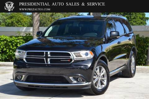 2014 Dodge Durango for sale at Presidential Auto  Sales & Service in Delray Beach FL