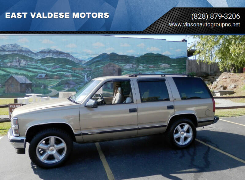 1996 Chevrolet Tahoe for sale at EAST VALDESE MOTORS in Valdese NC