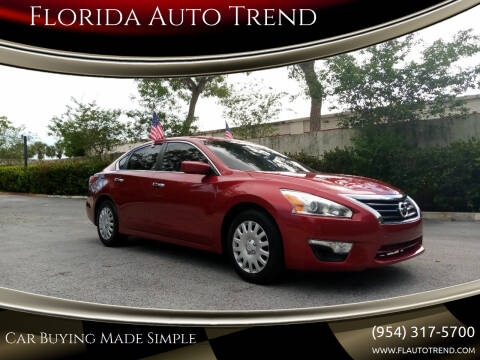 2014 Nissan Altima for sale at Florida Auto Trend in Plantation FL
