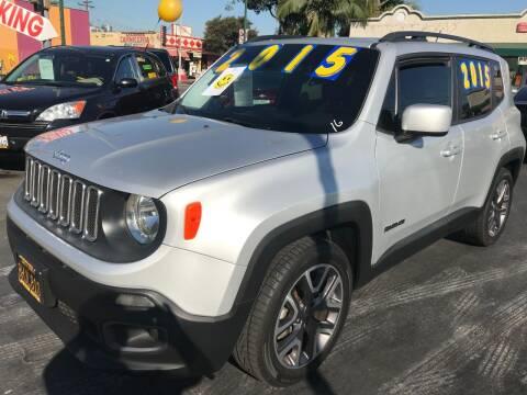 2015 Jeep Renegade for sale at La Mesa Auto Sales in Huntington Park CA