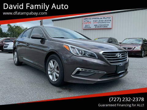2015 Hyundai Sonata for sale at David Family Auto in New Port Richey FL