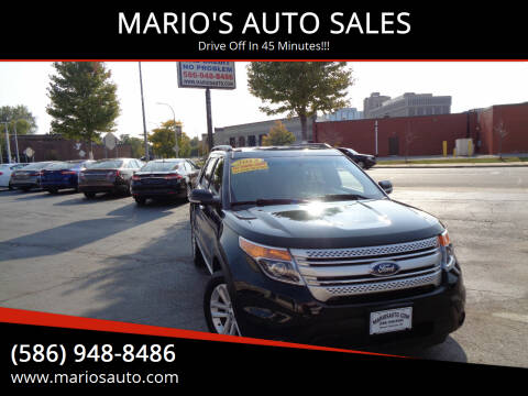 2013 Ford Explorer for sale at MARIO'S AUTO SALES in Mount Clemens MI