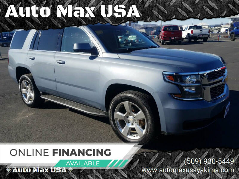 2016 Chevrolet Tahoe for sale at Auto Max USA in Yakima WA