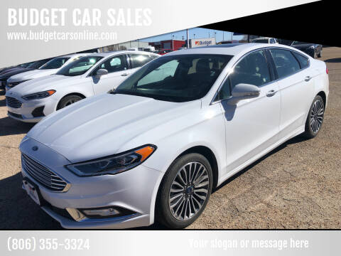 2018 Ford Fusion for sale at BUDGET CAR SALES in Amarillo TX