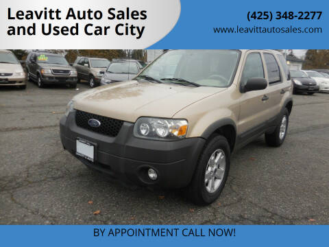 2007 Ford Escape for sale at Leavitt Auto Sales and Used Car City in Everett WA