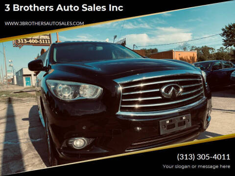 2013 Infiniti JX35 for sale at 3 Brothers Auto Sales Inc in Detroit MI