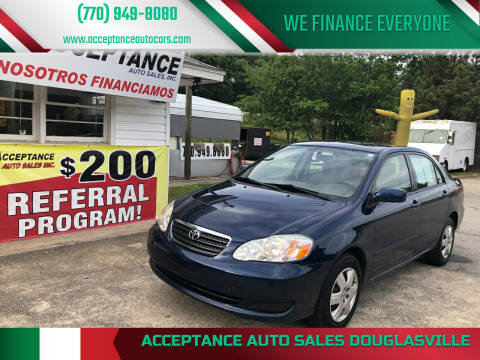 2008 Toyota Corolla for sale at Acceptance Auto Sales Douglasville in Douglasville GA
