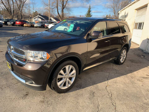 2012 Dodge Durango for sale at PAPERLAND MOTORS in Green Bay WI