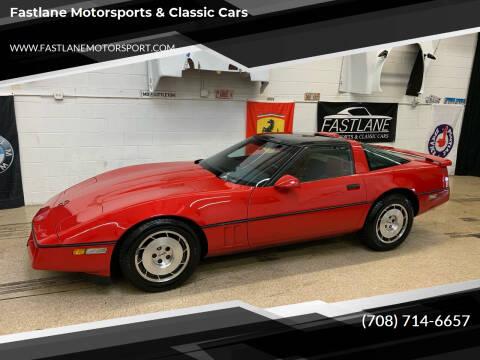 1986 Chevrolet Corvette for sale at Fastlane Motorsports & Classic Cars in Addison IL