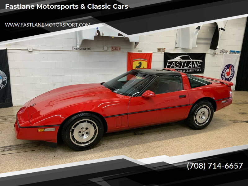1986 Chevrolet Corvette for sale at Fastlane Motorsports & Classic Cars in Addison IL