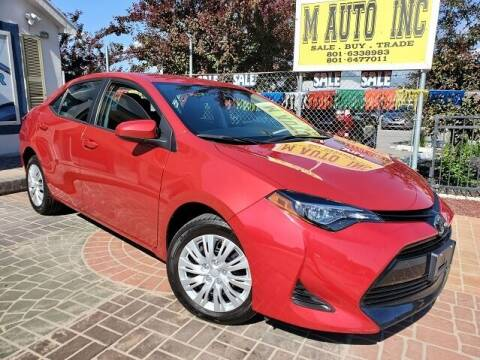 2019 Toyota Corolla for sale at M AUTO, INC in Millcreek UT