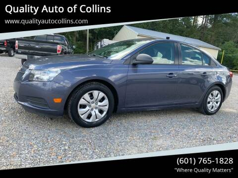 2013 Chevrolet Cruze for sale at Quality Auto of Collins in Collins MS