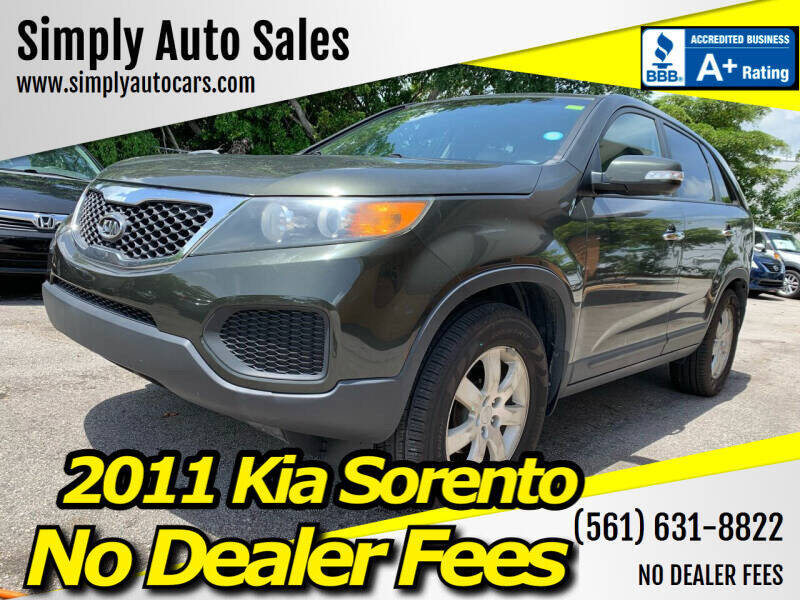2011 Kia Sorento for sale at Simply Auto Sales in Palm Beach Gardens FL