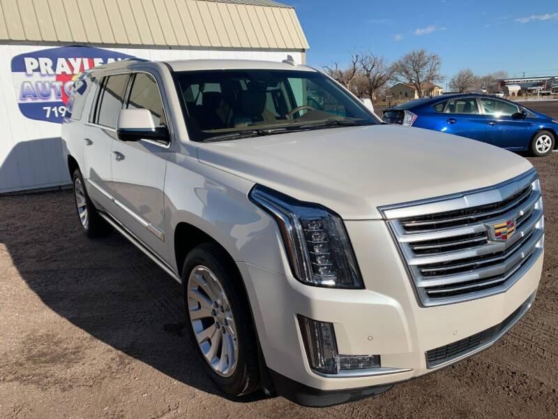 2015 Cadillac Escalade ESV for sale at Praylea's Auto Sales in Peyton CO