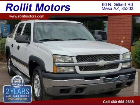 2003 Chevrolet Avalanche for sale at Rollit Motors in Mesa AZ