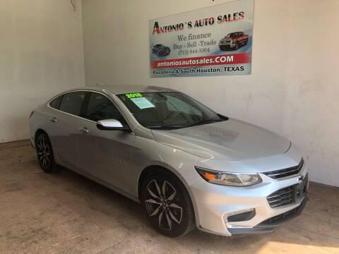2018 Chevrolet Malibu for sale at Antonio's Auto Sales in South Houston TX