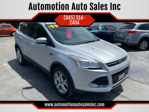 2013 Ford Escape for sale at Automotion Auto Sales Inc in Kingston NY