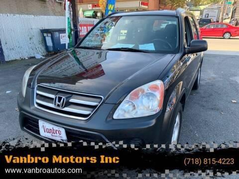 2006 Honda CR-V for sale at Vanbro Motors Inc in Staten Island NY