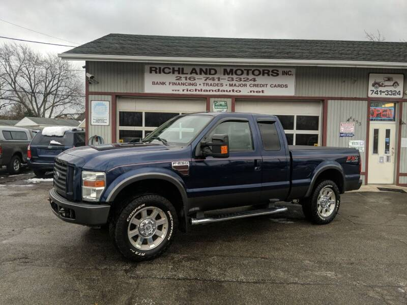 2008 Ford F-250 Super Duty for sale at Richland Motors in Cleveland OH