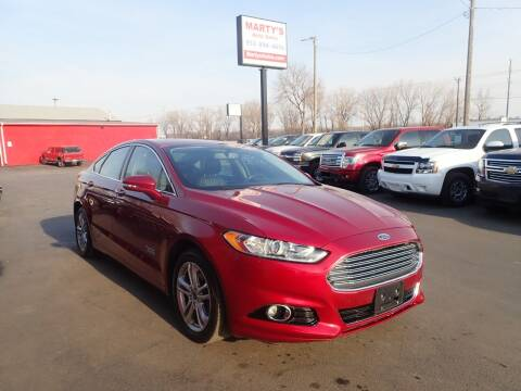 2016 Ford Fusion Energi for sale at Marty's Auto Sales in Savage MN