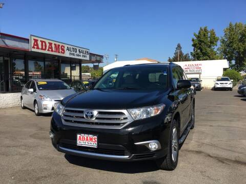 2011 Toyota Highlander for sale at Adams Auto Sales in Sacramento CA
