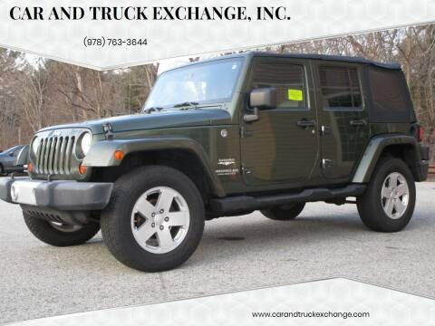 2008 Jeep Wrangler Unlimited for sale at Car and Truck Exchange, Inc. in Rowley MA