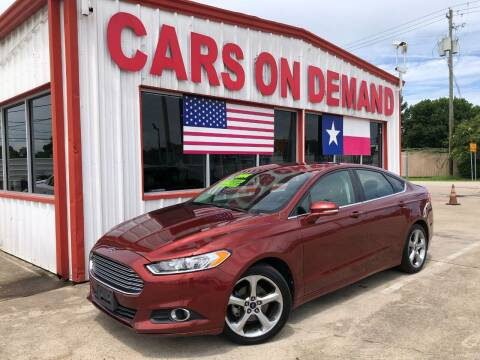 2014 Ford Fusion for sale at Cars On Demand 2 in Pasadena TX