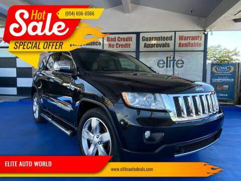 2012 Jeep Grand Cherokee for sale at ELITE AUTO WORLD in Fort Lauderdale FL