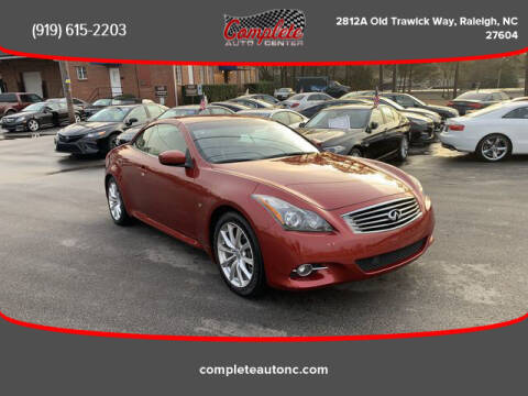 2014 Infiniti Q60 Convertible for sale at Complete Auto Center , Inc in Raleigh NC