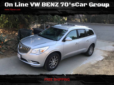 2016 Buick Enclave for sale at On Line VW BENZ 70'sCar Group in Warehouse CA