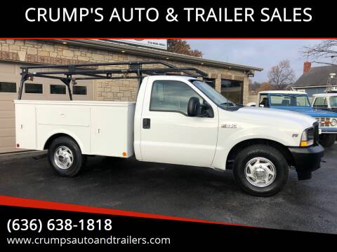 2002 Ford F-250 Super Duty for sale at CRUMP'S AUTO & TRAILER SALES in Crystal City MO