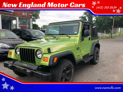 2004 Jeep Wrangler for sale at New England Motor Cars in Springfield MA