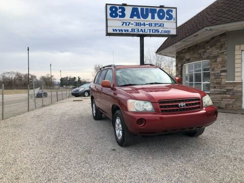 2003 Toyota Highlander for sale at 83 Autos in York PA
