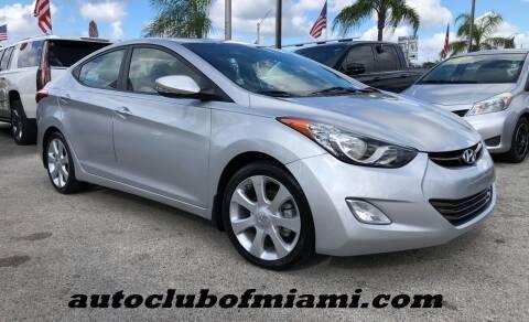 2013 Hyundai Elantra for sale at AUTO CLUB OF MIAMI, INC in Miami FL