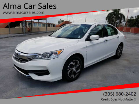 2017 Honda Accord for sale at Alma Car Sales in Miami FL