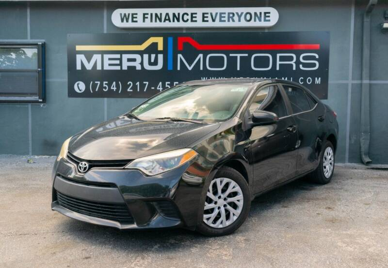 2014 Toyota Corolla for sale at Meru Motors in Hollywood FL