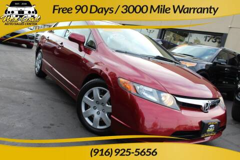 2006 Honda Civic for sale at West Coast Auto Sales Center in Sacramento CA