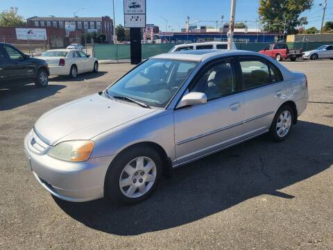 2002 Honda Civic for sale at LINDER'S AUTO SALES in Gastonia NC