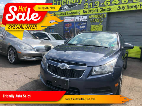 2013 Chevrolet Cruze for sale at Friendly Auto Sales in Detroit MI