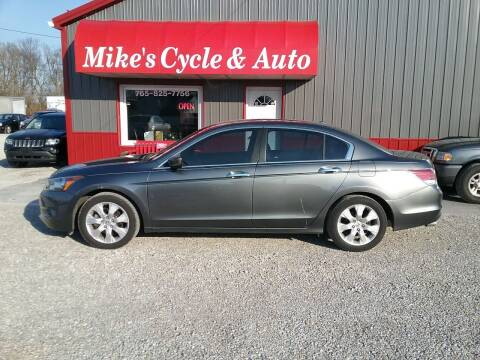 2008 Honda Accord for sale at MIKE'S CYCLE & AUTO in Connersville IN